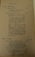 The table of content from the manuscript of Gerhard's dissertation on Bartold Georg Niebuhr (1923). Only the smaller part of that book has been published.
